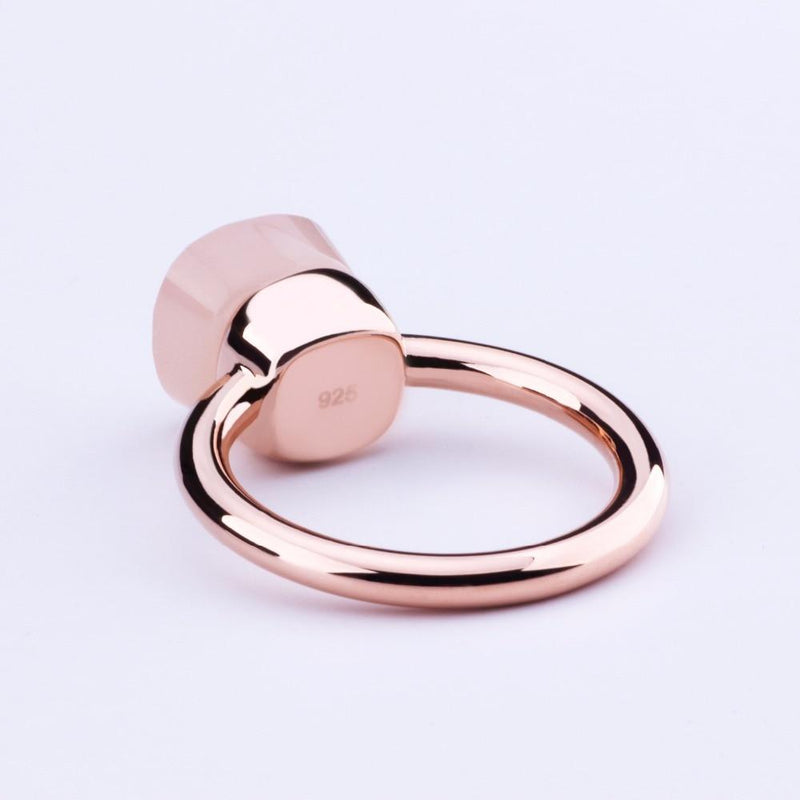 Rose Gold Stone Ring - Tarah Co.