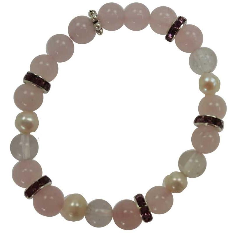 Rose Quartz Bead Bracelet - Tarah Co.