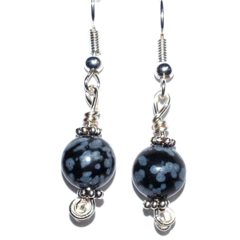 Snowflake Dangle Earrings - Tarah Co.