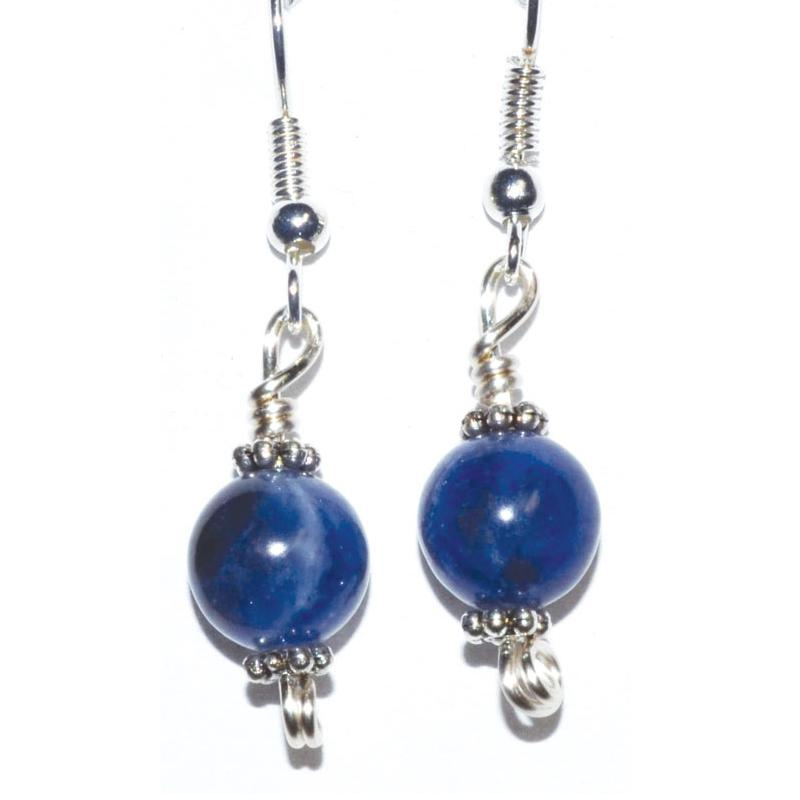 Sodalite Dangle Earrings - Tarah Co.