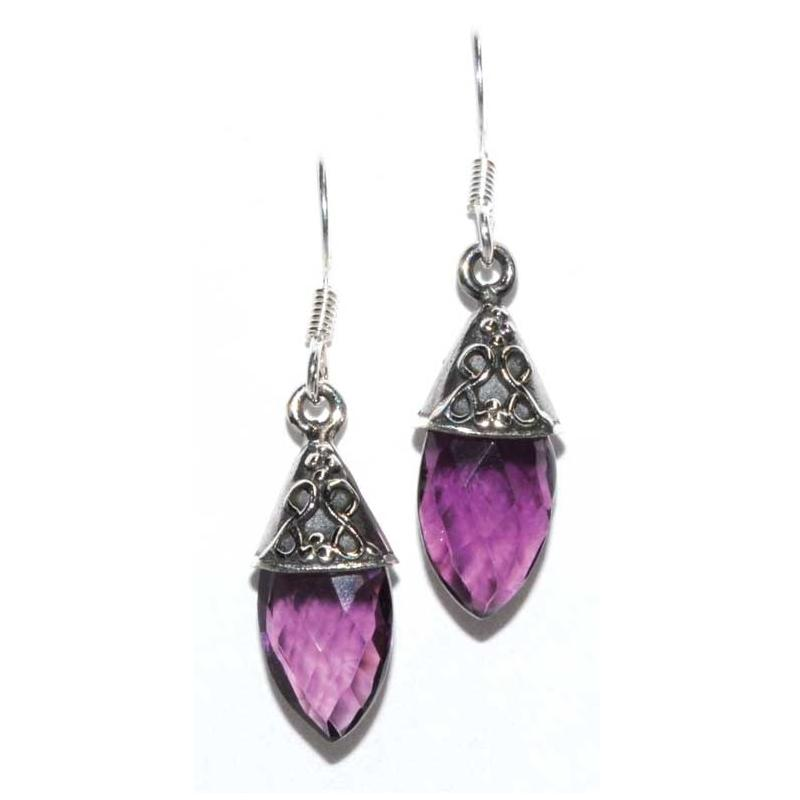 Teardrop Amethyst Earrings - Tarah Co.