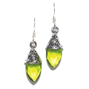 Teardrop Peridot Earrings - Tarah Co.