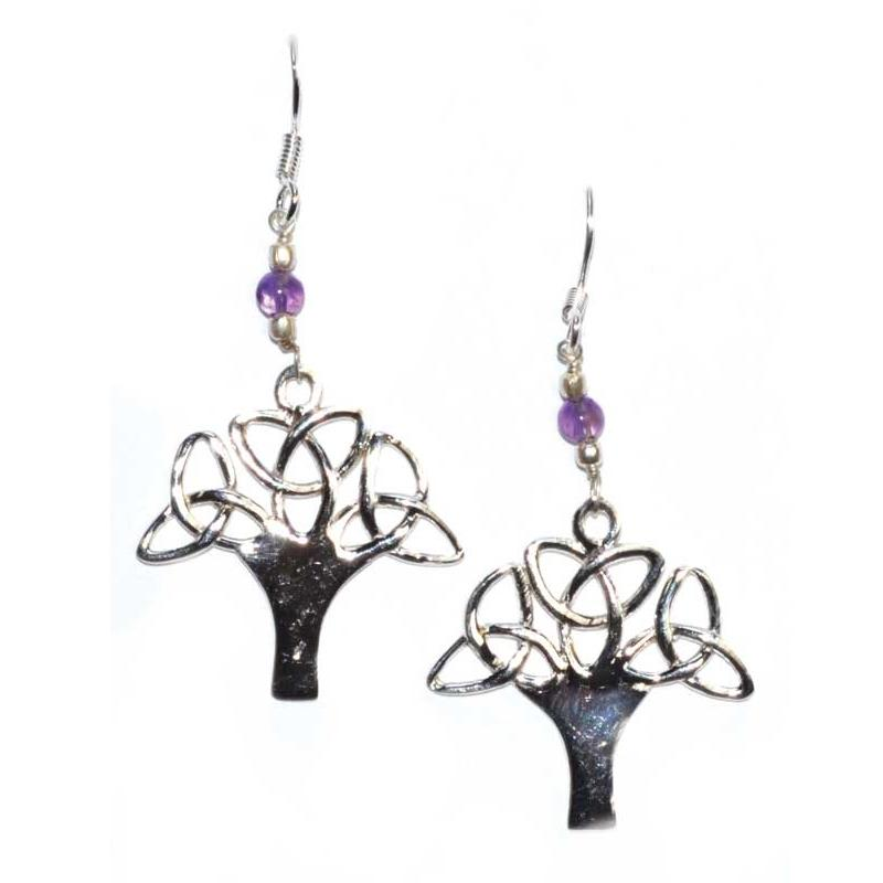 Tree Amethyst Earrings - Tarah Co.