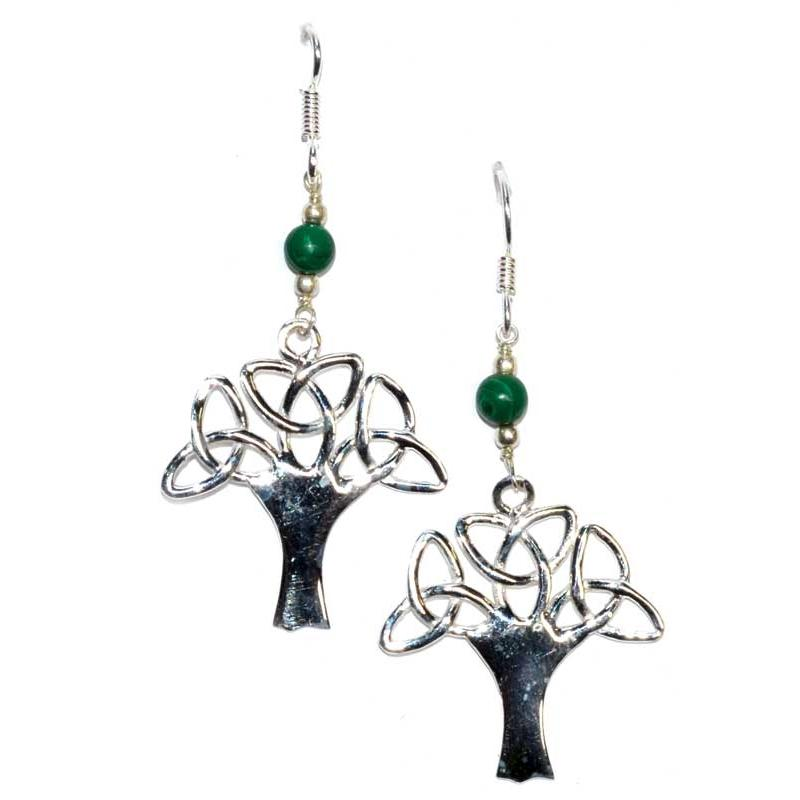 Tree Malachite Earrings - Tarah Co.