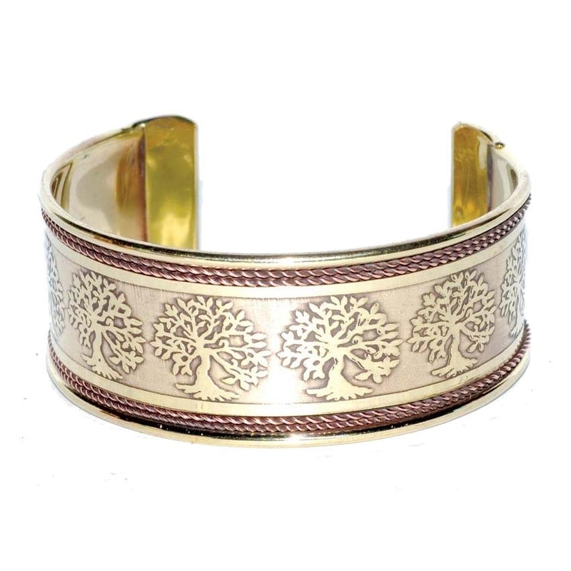 Tree of Life Copper & Brass Bracelet - Tarah Co.