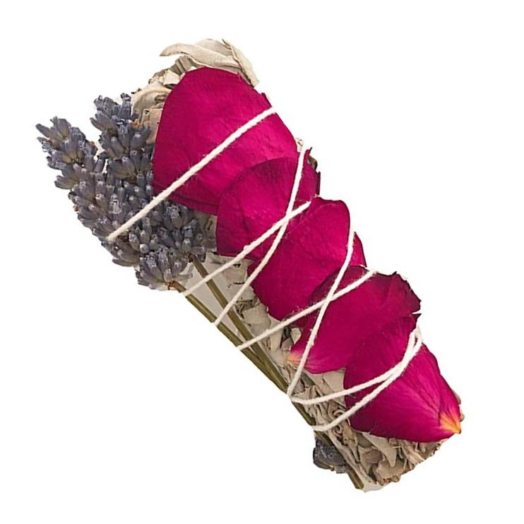 White Sage Smudge Stick Infused w/ Rose & Lavender | Exclusive Offers - TARAH CO.