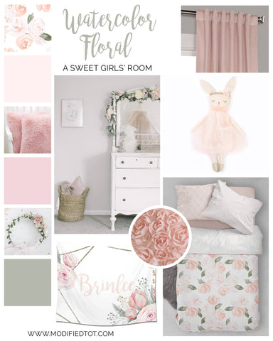 A Boho Floral Girls' Room