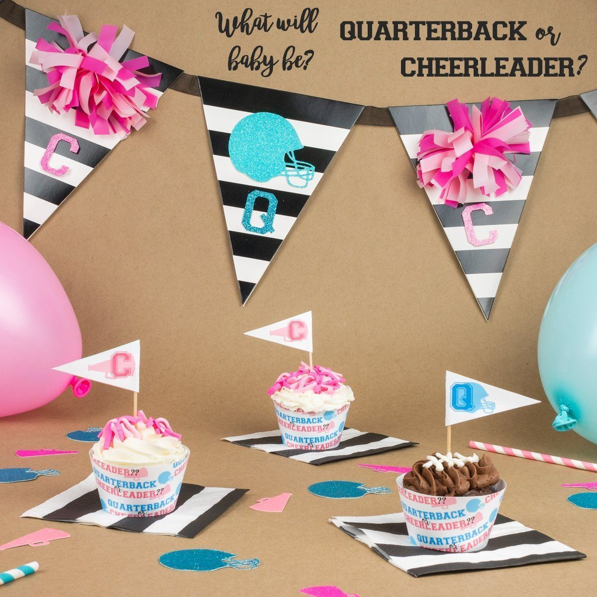 Gender Reveal Party Theme: Quarterback or Cheerleader