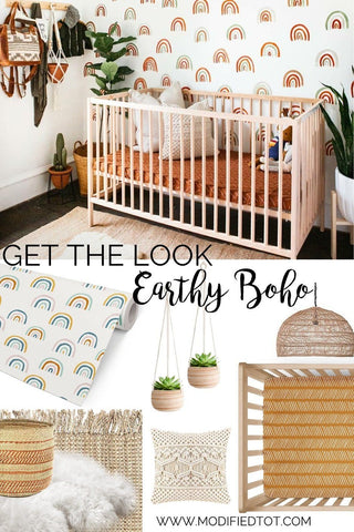 Get The Look: Earthy Boho Nursery