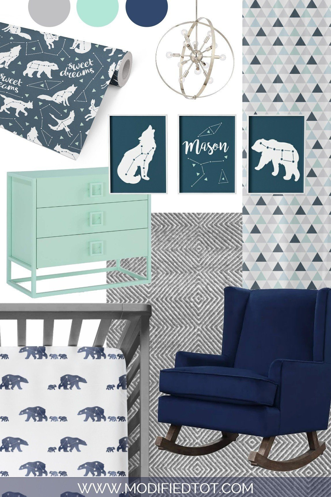 Nursery Design Board: Constellations