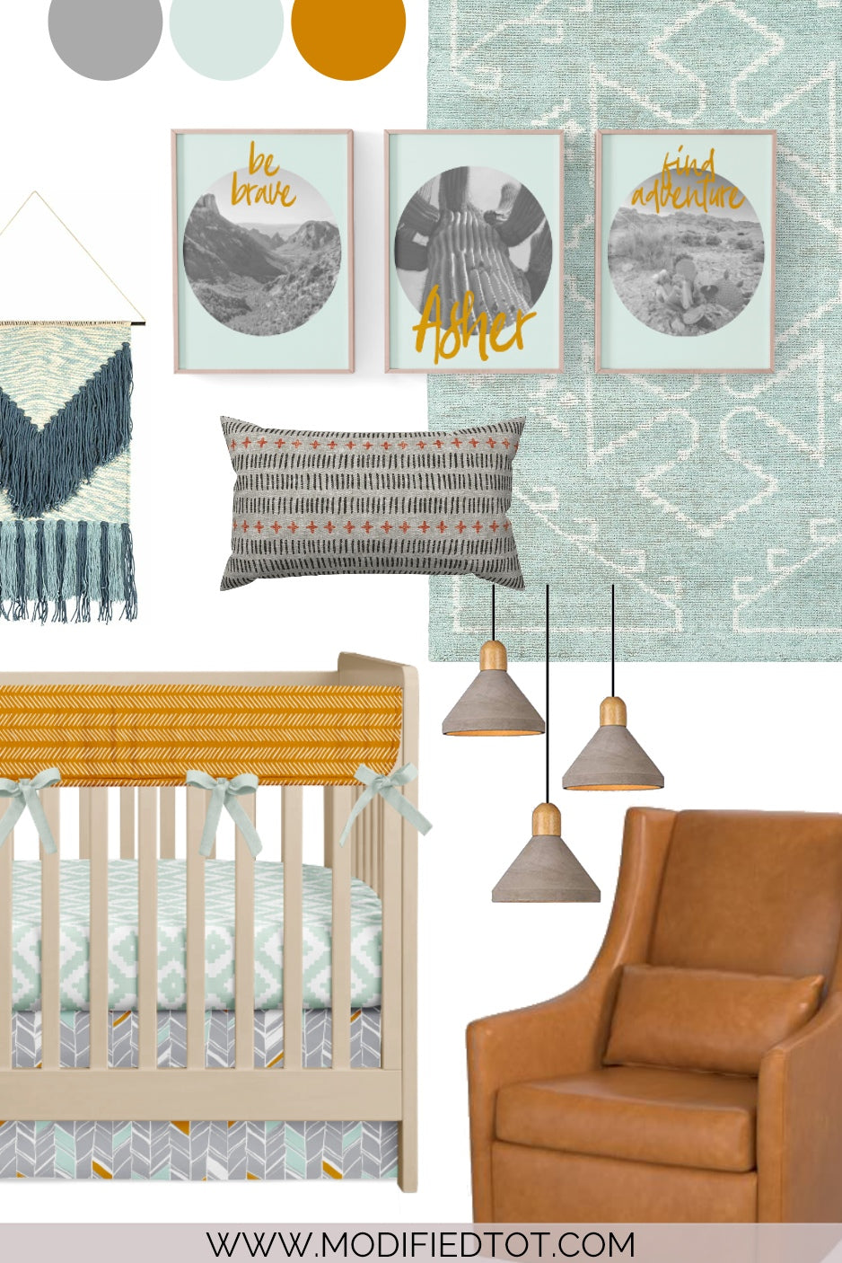 Nursery Design Board: Tribal Boho Nursery