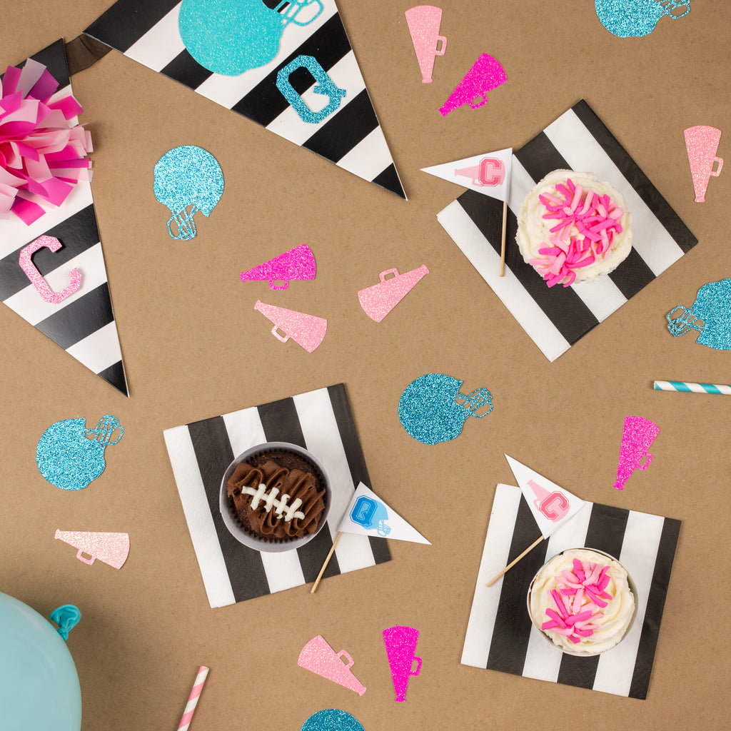 Lets start with the decorations the banner is a must have and so adorable i started with a black and white striped banner from hobby lobby you can also