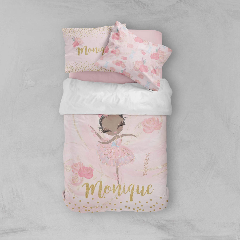 Ballerina Personalized Big Kid Bedding Set Big Kid Bedding Modified Tot