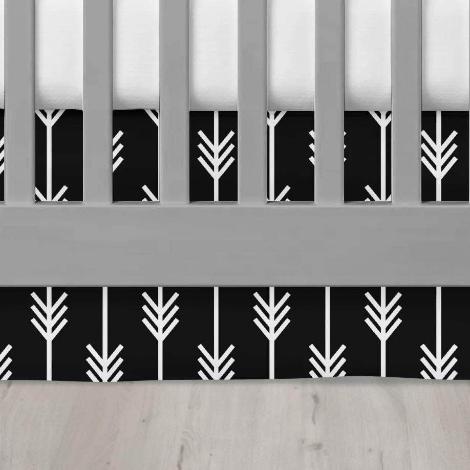 Black Arrows Crib Skirt Crib Skirt Modified Tot