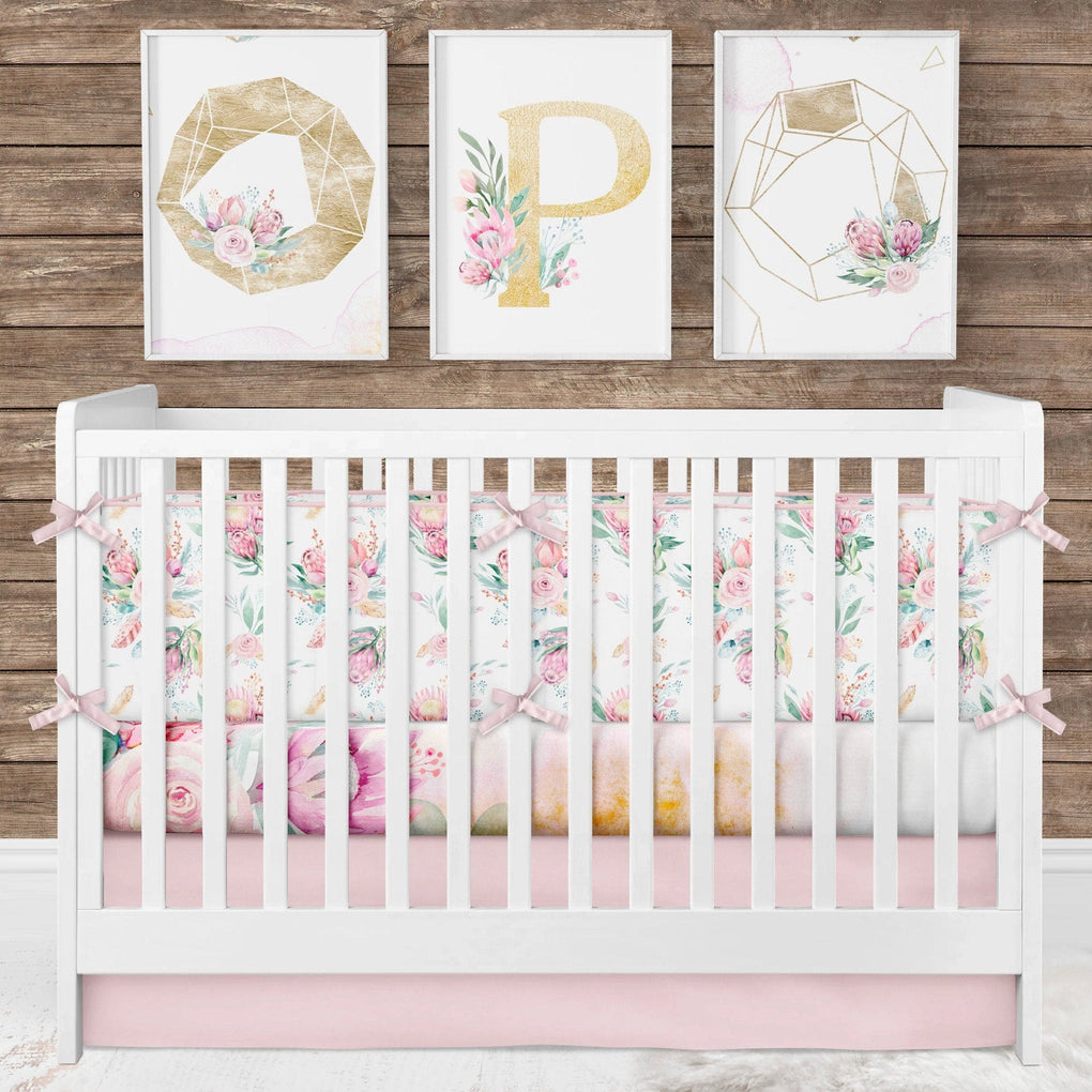 Boho Babe Personalized Crib Bedding (3 Pcs: Bumpers, Sheet, Skirt) Crib Bedding Modified Tot