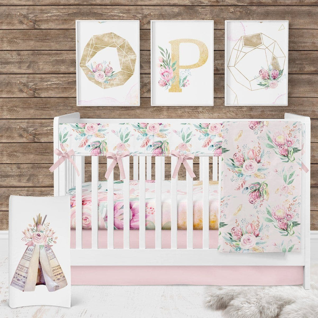 Boho Babe Personalized Crib Sheet Crib Sheet Modified Tot