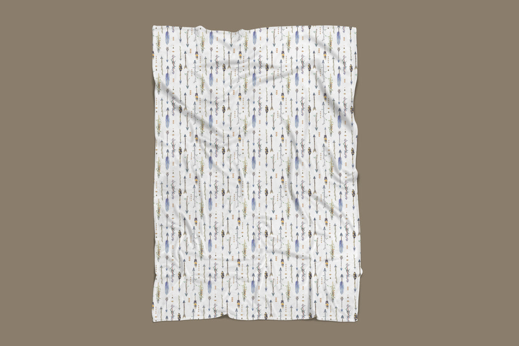 Boho Boy Arrows Minky Blanket Minky Blanket Modified Tot