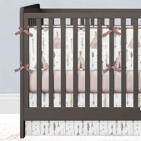 Boho Boy Crib Bedding (3 Pcs: Bumpers, Sheet, Skirt) Crib Bedding Modified Tot
