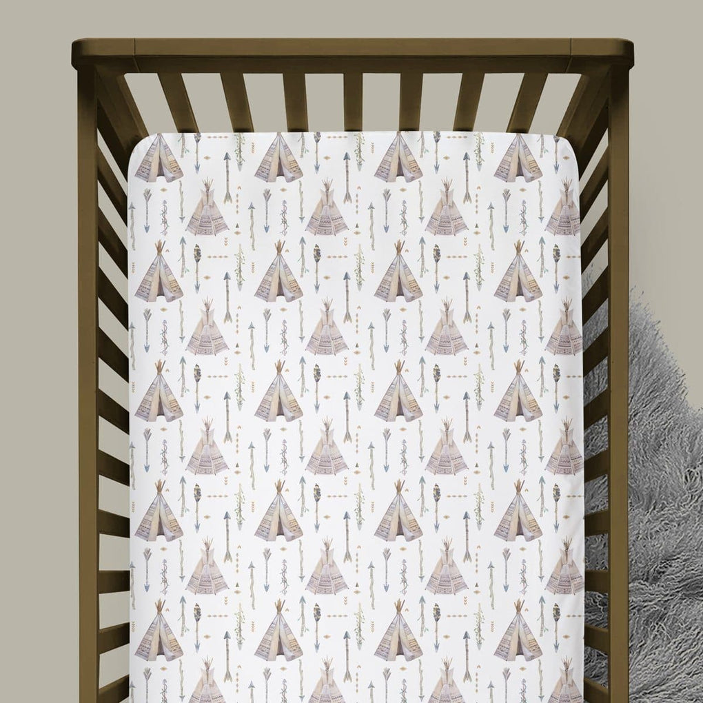 Boho Boy Teepee Crib Sheet Crib Sheet Modified Tot