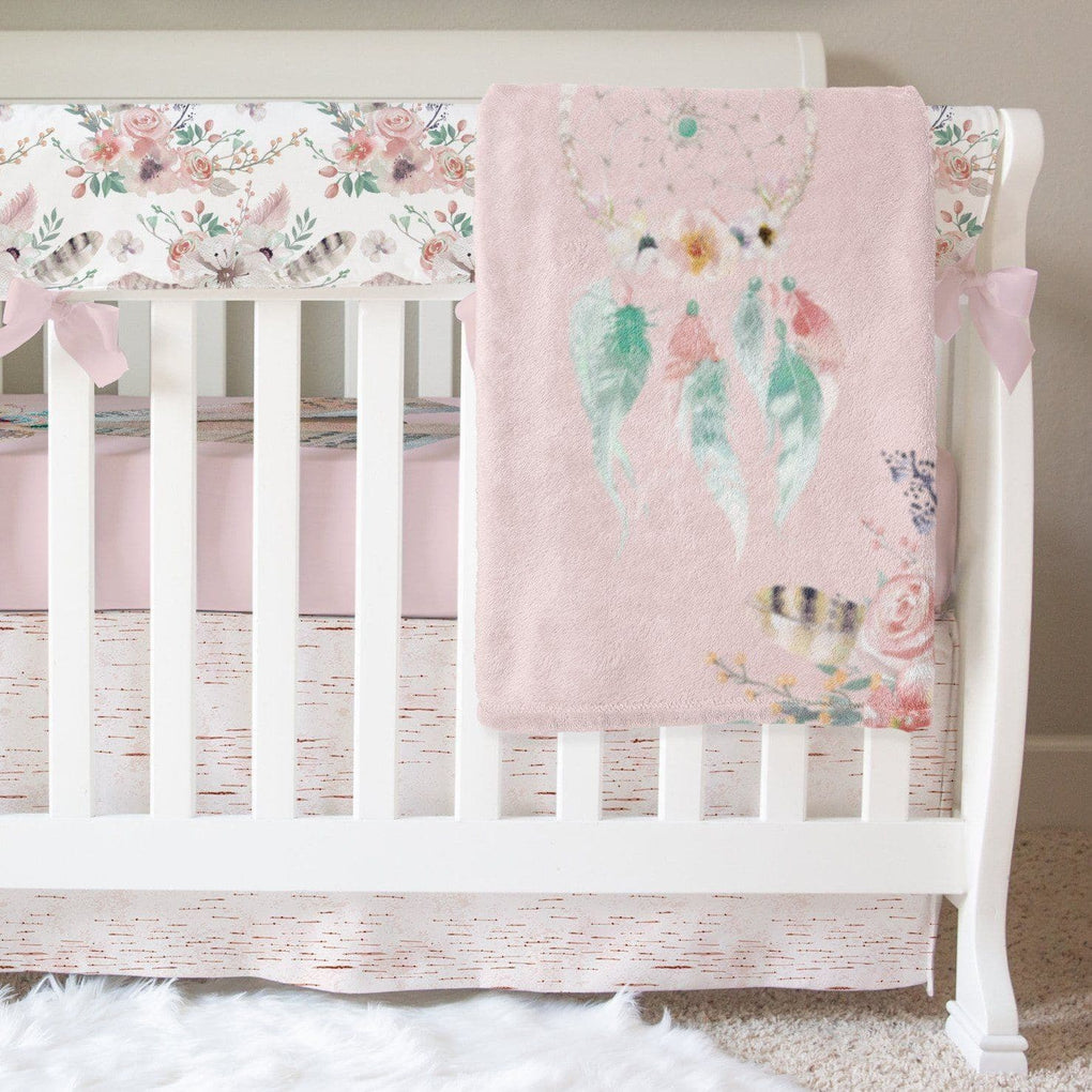 Boho Soul Floral Crib Bedding Crib Bedding Modified Tot