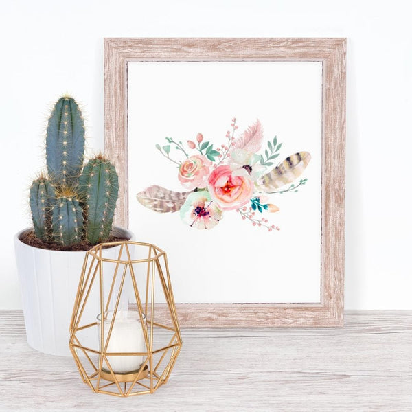Boho Tribal Floral Art Print (Download) download Modified Tot