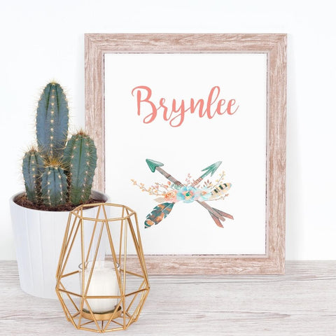 Boho Tribal Personalized Art Print (Download) download Modified Tot