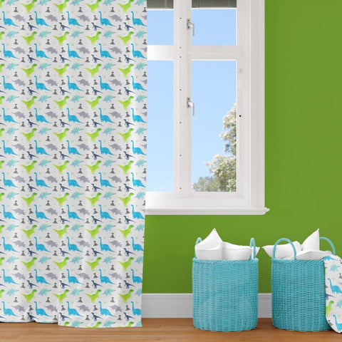 Bright Dinosaur Curtain Panel Curtain Panels Modified Tot