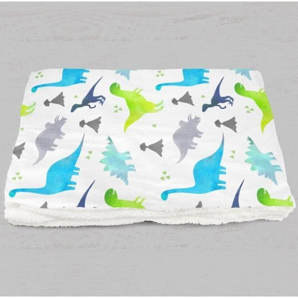Bright Dinosaur Minky Blanket Crib Bedding Modified Tot