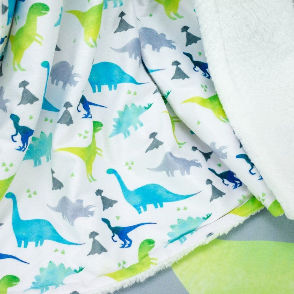 Bright Dinosaur Minky Blanket Minky Blanket Modified Tot