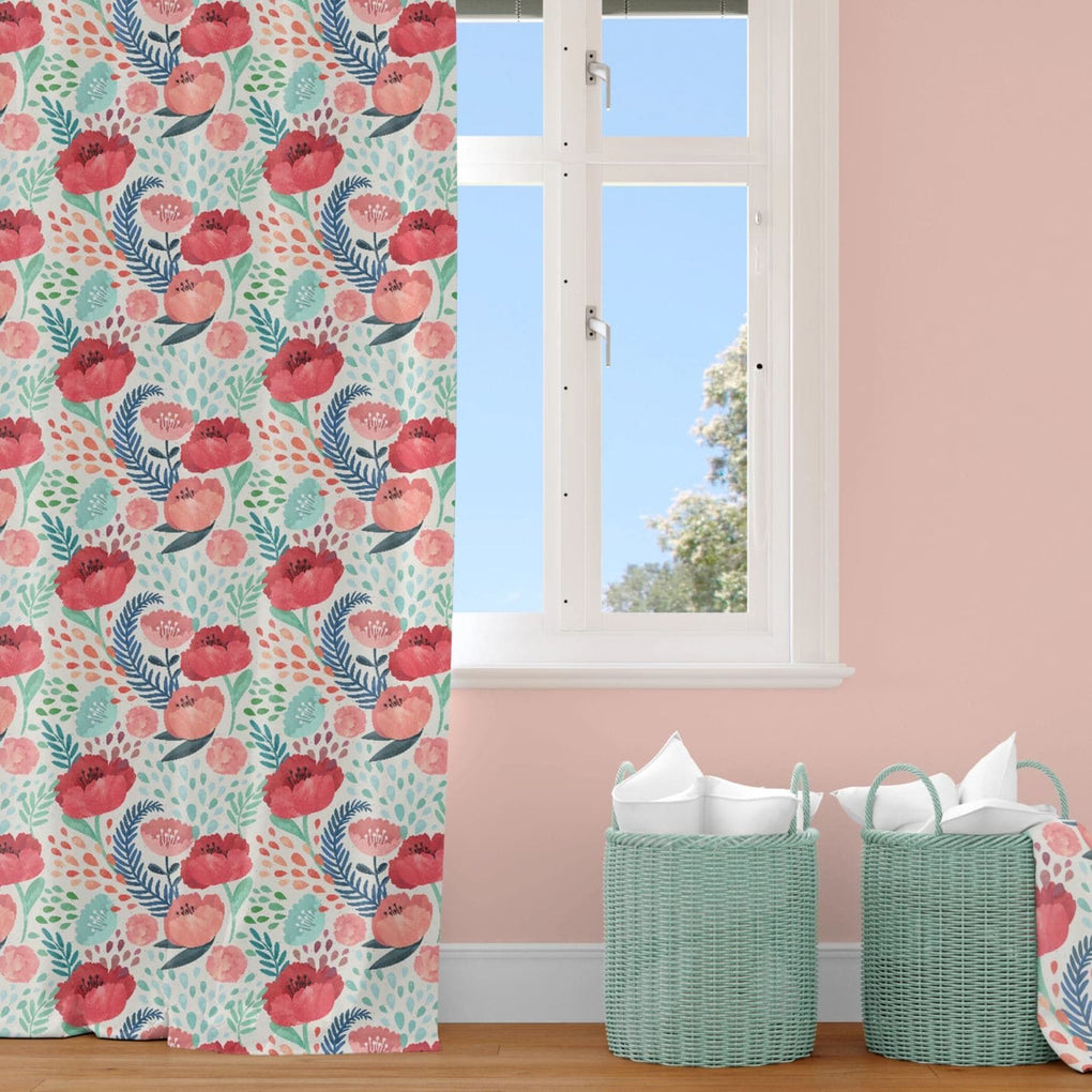 Bright Poppy Curtain Panel Curtain Panels Modified Tot