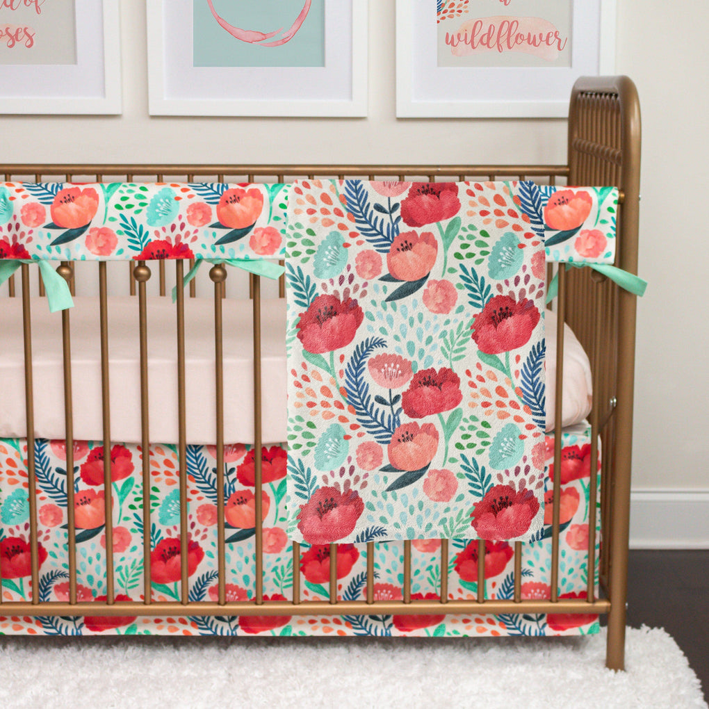 Bright Poppy Floral Rail Guards Rail Guards Modified Tot