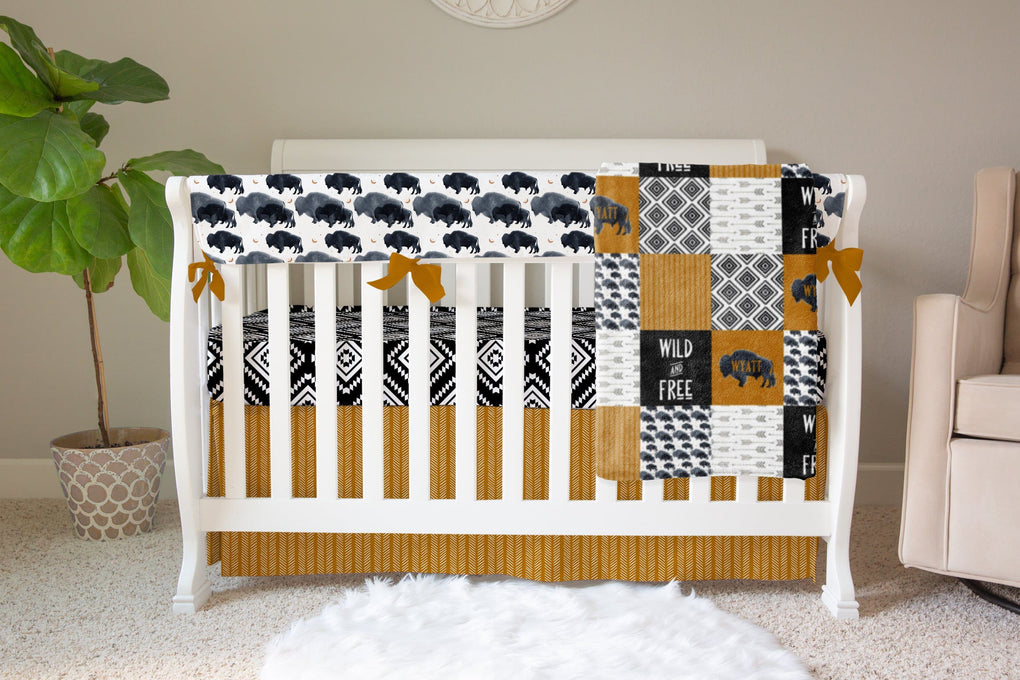 Buffalo Babe Blankets Crib Skirt Modified Tot