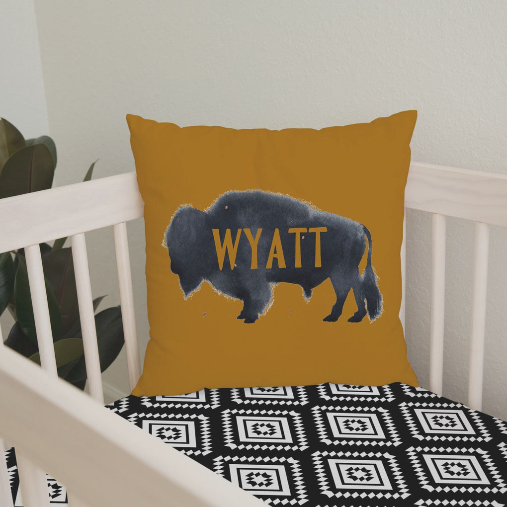 Buffalo Babe Personalized Throw Pillow Throw Pillow Modified Tot