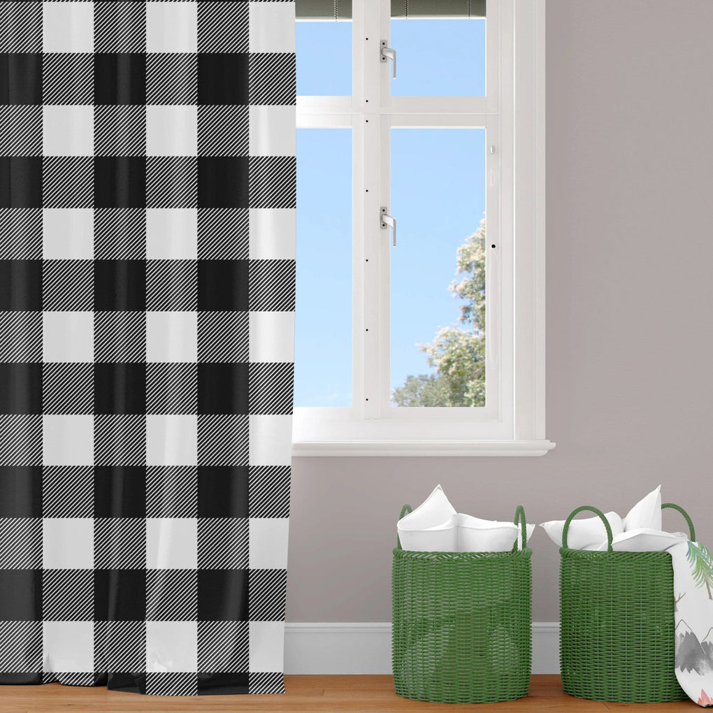 Buffalo Plaid Curtain Panel Curtain Panels Modified Tot