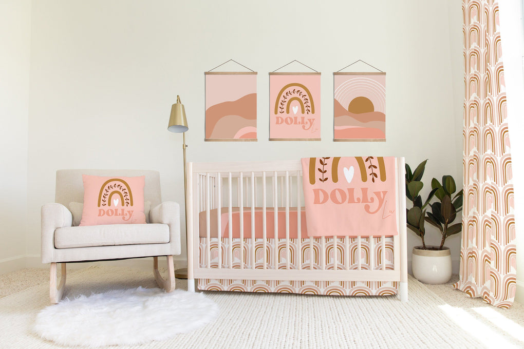 Bumperless Boho Sunset Crib Bedding Crib Bedding Modified Tot