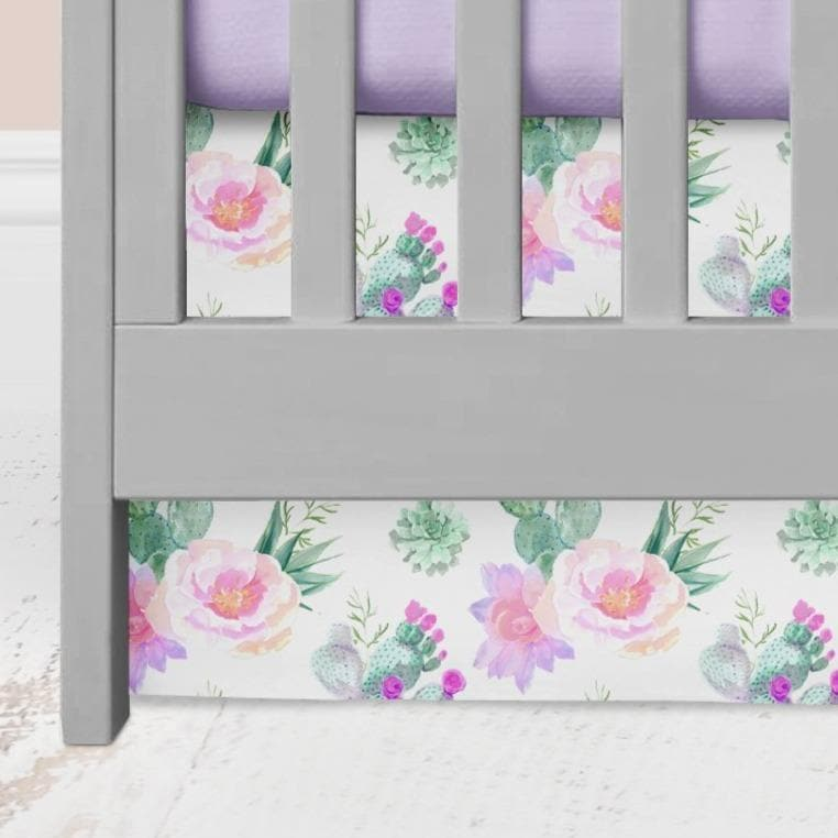 Cactus Floral Crib Skirt Crib Skirt Modified Tot