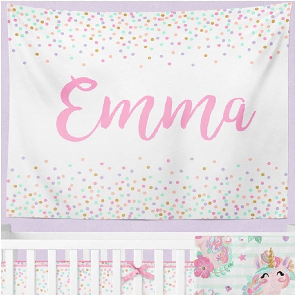 Confetti Personalized Wall Tapestry tapestry Modified Tot