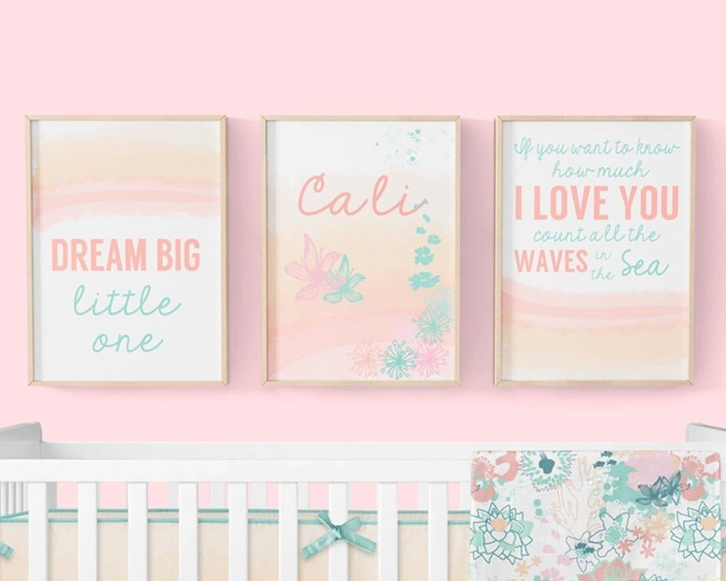 Coral Waves Wall Art Trio (Download) download Modified Tot