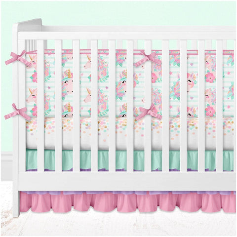 *Create Your Own Package* Unicorn Dreams Crib Bedding Crib Bedding Modified Tot