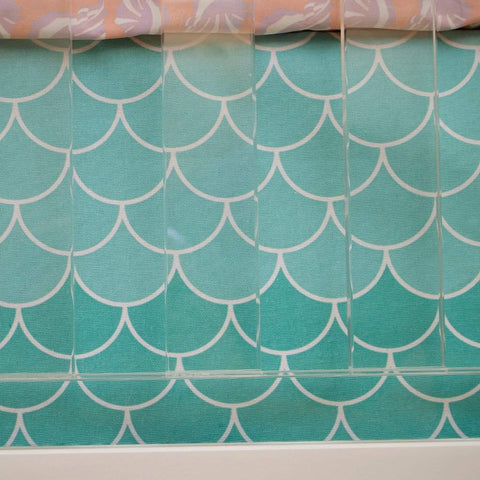 Crib Skirt - Mermaid Scales Modified Tot