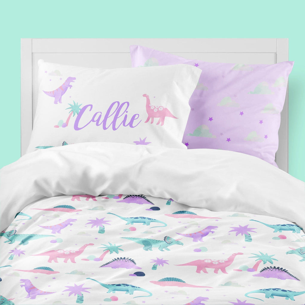 Dino Grrrl Big Kid Bedding Set Big Kid Bedding Modified Tot