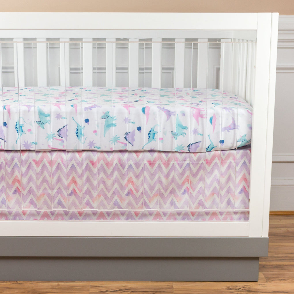 Dino Grrrl Bumperless Crib Bedding Crib Bedding Modified Tot