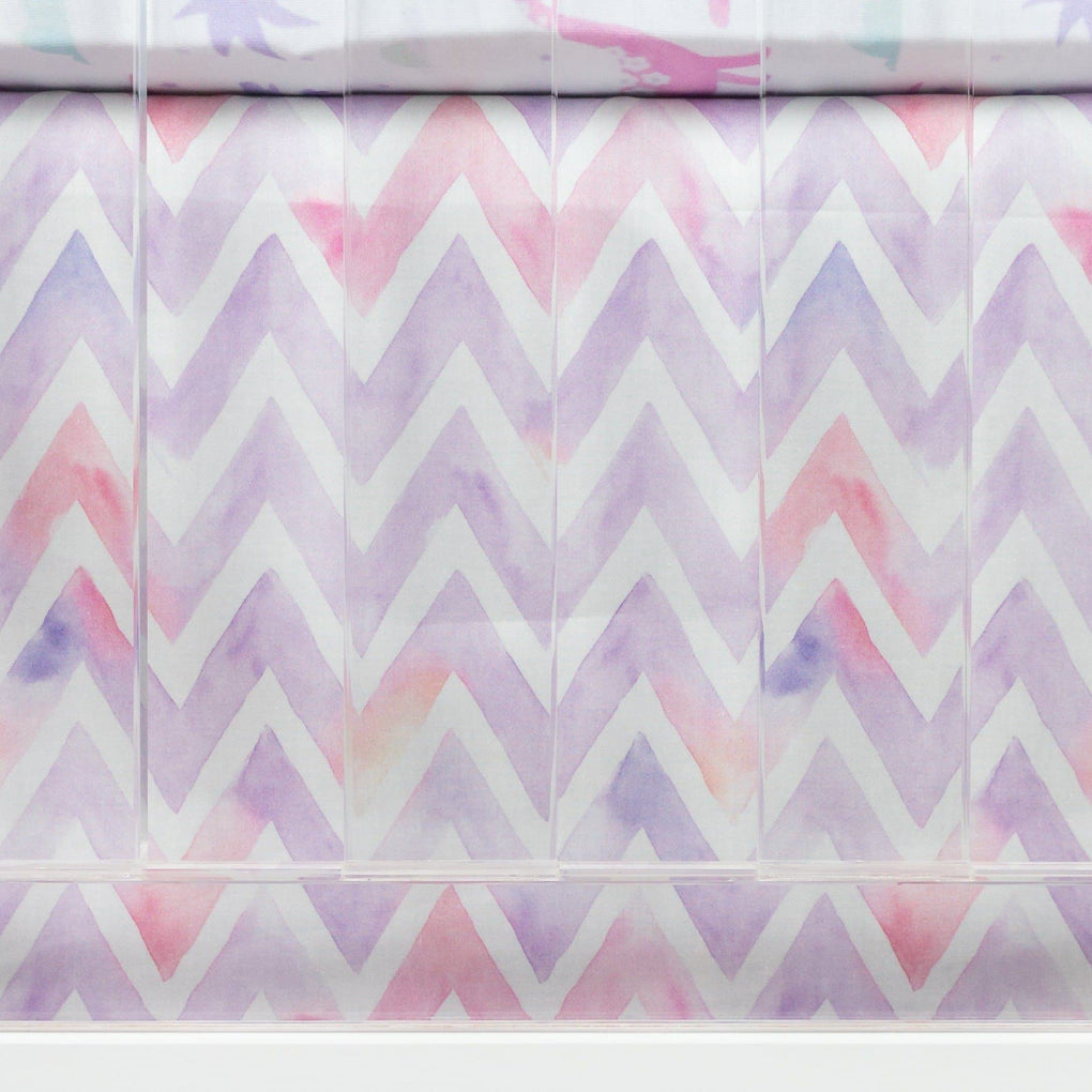 Dino Grrrl Chevron Crib Skirt Crib Skirt Modified Tot