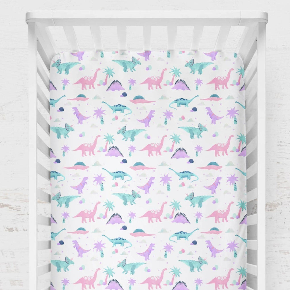 Dino Grrrl Crib Bedding (2 Pcs: Sheet, Skirt) Crib Bedding Modified Tot