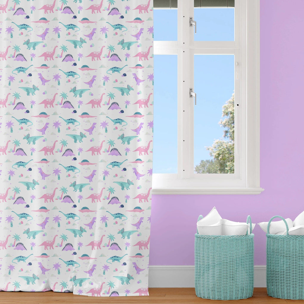 Dino Grrrl Curtain Panel Curtain Panels Modified Tot
