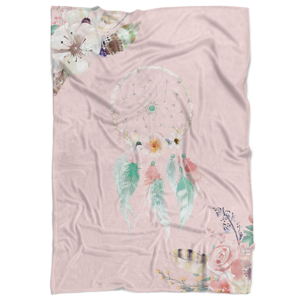 Dreamcatcher Floral Minky Blanket Minky Blanket Modified Tot
