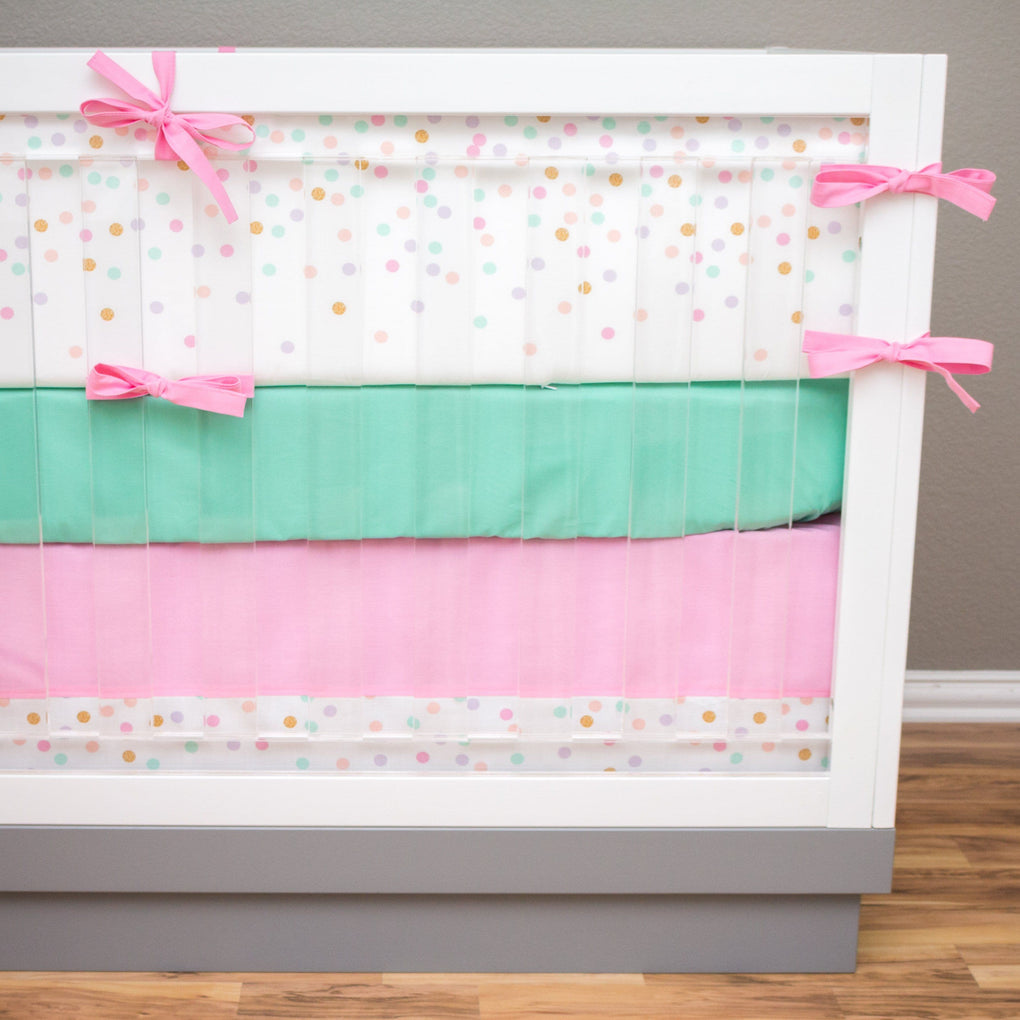Falling Confetti Crib Skirt Crib Bedding Modified Tot