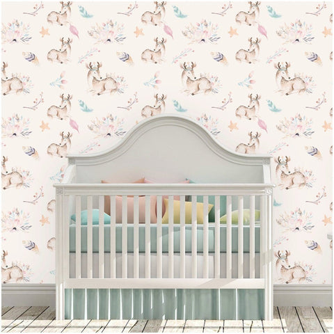 Fawn Forest Removable Wallpaper Wallpaper Modified Tot