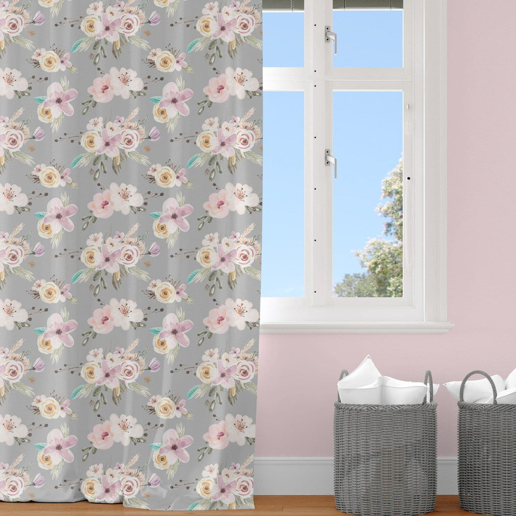 Floral Woodlands Curtain Panel Curtain Panels Modified Tot