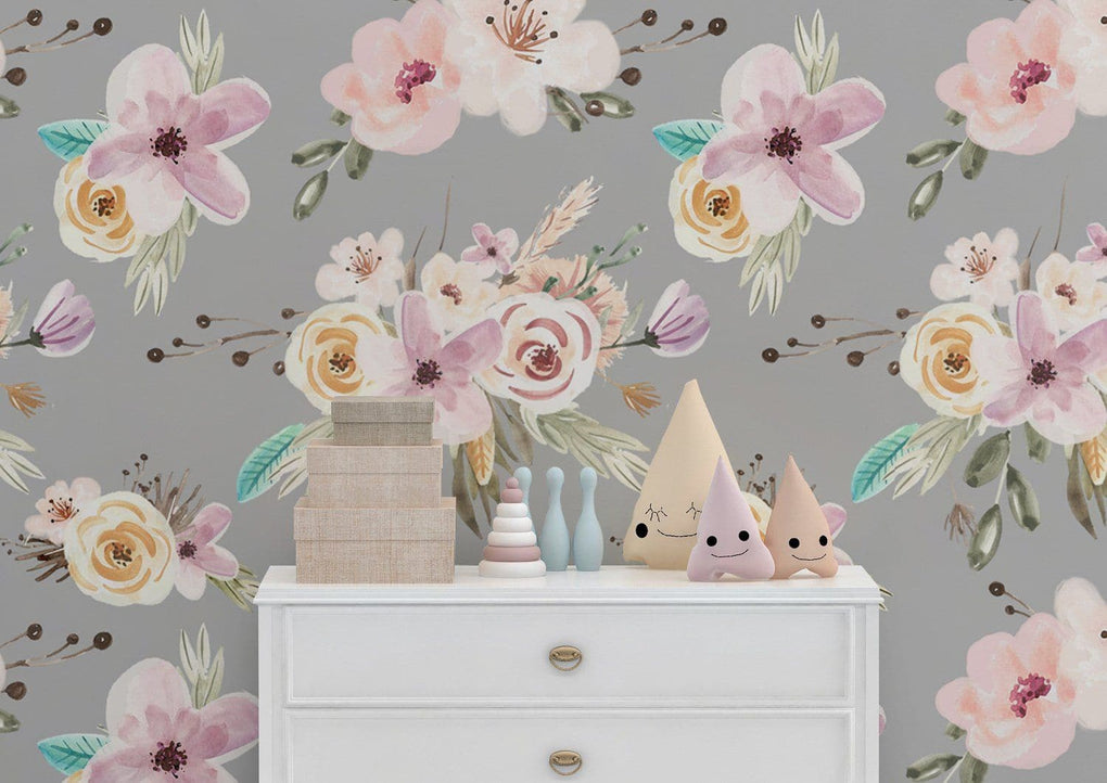 Floral Woodlands Removable Wallpaper Wallpaper Modified Tot